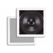 """Monoprice® 160W 8"""" In-Wall Subwoofer, White"""