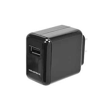 Monoprice® 2.1A USB Wall Charger, Black