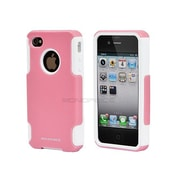 Monoprice® Dual Guard Polycarbonate With Silicone Case For iPhone 4/4s, Bubblegum