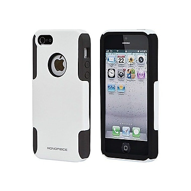 Monoprice® Dual Guard PC With Silicone Case For iPhone 5/5s, White