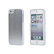 Monoprice® Chamfered Metallic Case For iPhone 5/5s, White