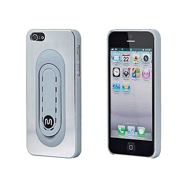 Monoprice® Brushed Aluminum Case With Snap-Stand For iPhone 5/5s, Silver