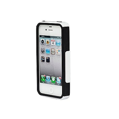 Monoprice® Dual Guard Polycarbonate With Silicone Case For iPhone 4/4s, White