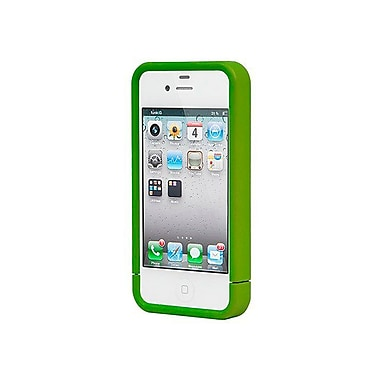 Monoprice® Polycarbonate Soft Touch Case For iPhone 4/4s, Metallic Green