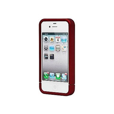 Monoprice® Polycarbonate Soft Touch Case For iPhone 4/4s, Metallic Red