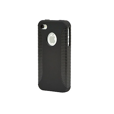Monoprice® Sure Grip Polycarbonate With TPU Case For iPhone 4/4s, Black