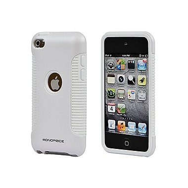 Monoprice® Sure Grip Polycarbonate With TPU Case For iPod Touch 4G, White