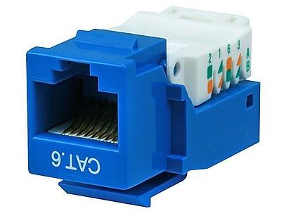 Monoprice® Cat6 RJ-45 Toolless Keystone Jack, Blue
