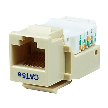 Monoprice® Cat5e RJ-45 Toolless Keystone Jack, Beige