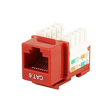 Monoprice® Cat6 Punch Down Keystone Jack, Red