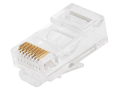 Monoprice® RJ-45 Network/Modular Connector For Solid Wire Cables