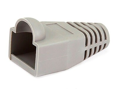 Monoprice® RJ-45 Color Coded Strain Relief Boot, Gray