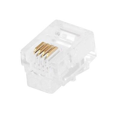 Monoprice® RJ-11 6P4C Plug Flat Stranded Connector