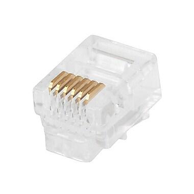 Monoprice® RJ-12 6P6C Plug Round Stranded Connector