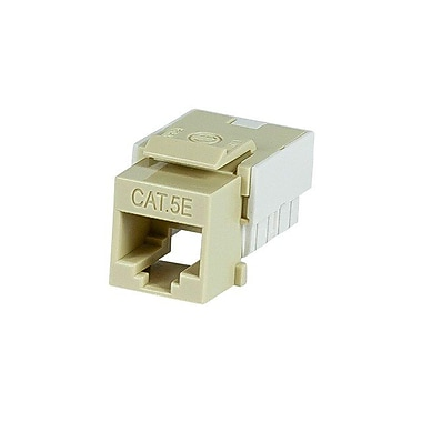 Monoprice® Slim Cat5e Punch Down Keystone Jack, Beige