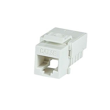 Monoprice® Slim Cat5e Punch Down Keystone Jack, White