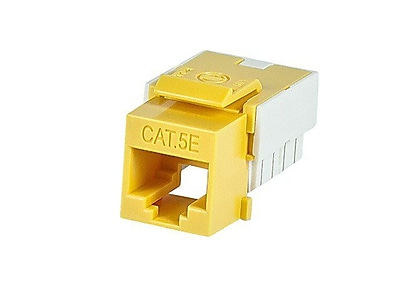 Monoprice 110047 CAT-5e Punch Down Keystone Jack, Yellow