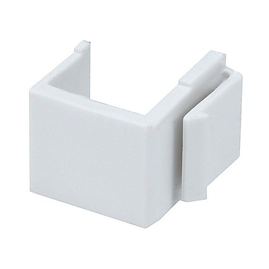 Monoprice® Blank Insert For Wall Plate, White