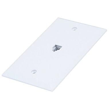 Monoprice® 6P4C Flush Type Single Wall Plate Jack, White
