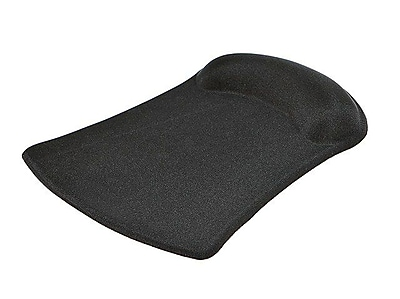 Monoprice® Mouse Pad With Gel Wrist Rest, Black