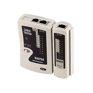 Monoprice® RJ-11 and RJ-45 Modular Plug Tester