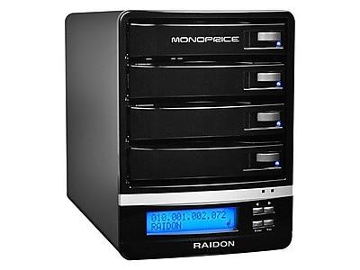 Monoprice® 4-Bay 16TB NAS Enclosure With RAID/DLNA/FTP