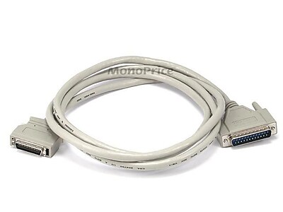 Monoprice® 6' DB-25 Male to 36 Pin Male Printer Cable, Beige