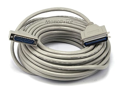 Monoprice® 50' IEEE 1284 DB-25 Male/CN36 Male Printer Cable