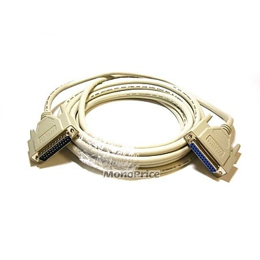 Monoprice® 10' IEEE 1284 DB-25 Male/Female Printer Cable