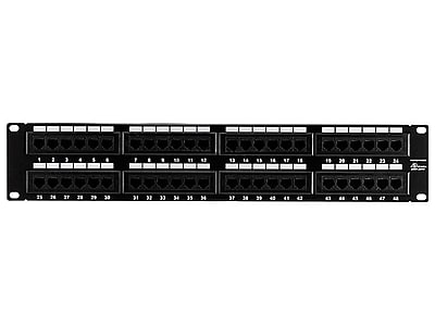 Monoprice® 48 Ports Cat5 110Type Enhanced Patch Panel