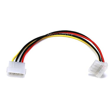 Monoprice® 0.7' Molex Male to Female Internal DC Power Extension Cable