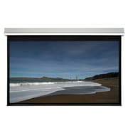 """Monoprice® 107337 106"""" Ceiling Recessed Motorized Projection Screen, 16:9, Silver Aluminum Casing"""