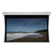 """Monoprice® 107948 106"""" Tab-Tensioned Motorized Projection Screen, 16:9, Black Aluminum Casing"""