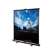 """Monoprice® 108006 100"""" Portable Pull-UP Projection Screen, 4:3, Black Aluminum Casing"""