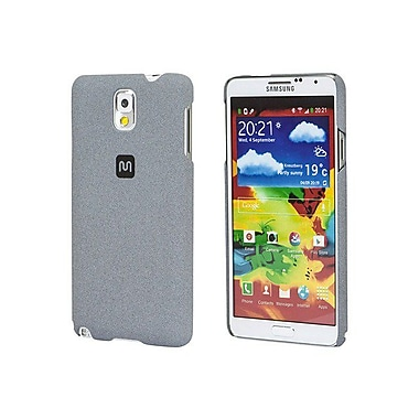 Monoprice® Polycarbonate Case With Soft Sand Finish For Samsung Galaxy Note 3, Granite Gray