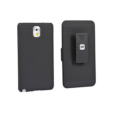 Monoprice® Slide Out Case With Belt Clip/ Stand For Samsung Galaxy Note 3, Black