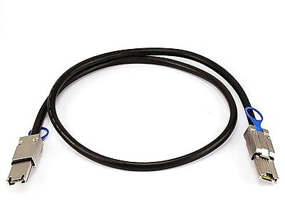 Monoprice® 1 m 28AWG External Mini SAS 26pin Male to Mini SAS 26pin Male Cable, Black