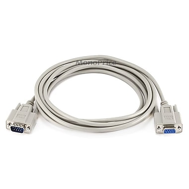 Monoprice® 10' DB9 Male to Female Null Modem Serial Cable