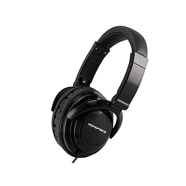 Monoprice® Hi-Fi Light Weight Over-the-Ear Headphone, Black