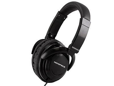 Monoprice® Hi-Fi Light Weight Over-the-Ear Headphone, Black