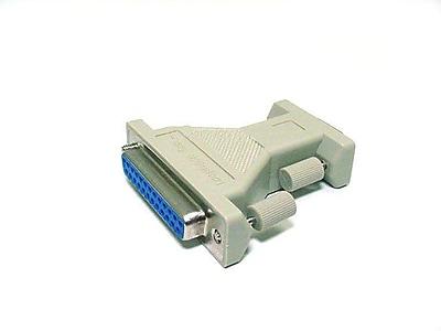Monoprice® DB9 Female/DB25 Female Serial Loopback Tester, White