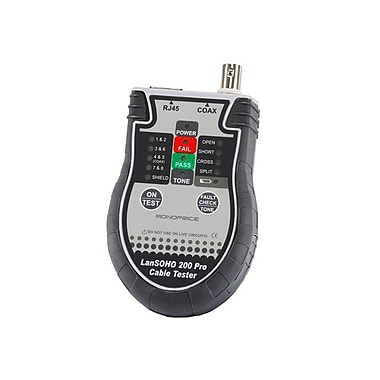 Monoprice® 108133 SOHO Cable Tester With Terminator Storage
