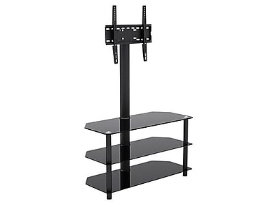 Monoprice® 110905 High Quality TV Stand With Mount For Flat Panel TVs Up to 47