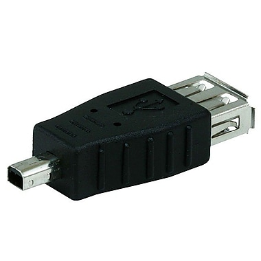 Monoprice® USB 2.0 A Female to Mini 4 pin (B4) Male Adapter, Black