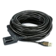 Monoprice® 49' USB 2.0 A Male to A Female Active Extension/Repeater Cable, Black