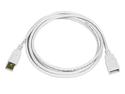 Monoprice 6' USB 2.0 Male to Female Extension Cable, White