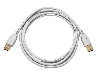 Monoprice 6' USB 2.0 Male to Male Data Transfer Cable, White