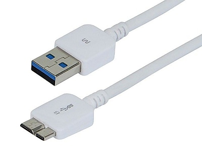 Monoprice® Ultra Slim Series 4' USB 3.0 A Male to B Male Cable, White