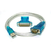 "Monoprice® 70"" USB to RS232 DB9 Male/DB25 Male Converter Cable"
