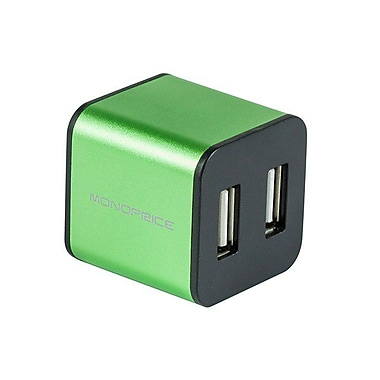 Monoprice® 4 Port USB 2.0 Cube Hub, Green